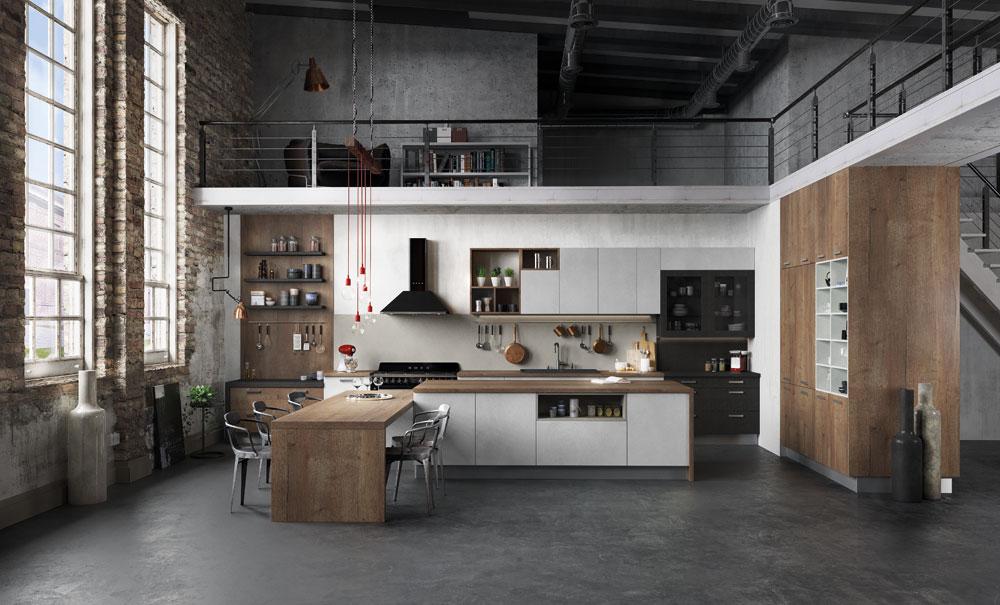 Cuisine quip e ouverte esprit loft mod le harmonie - Comment decorer une cuisine ouverte ...