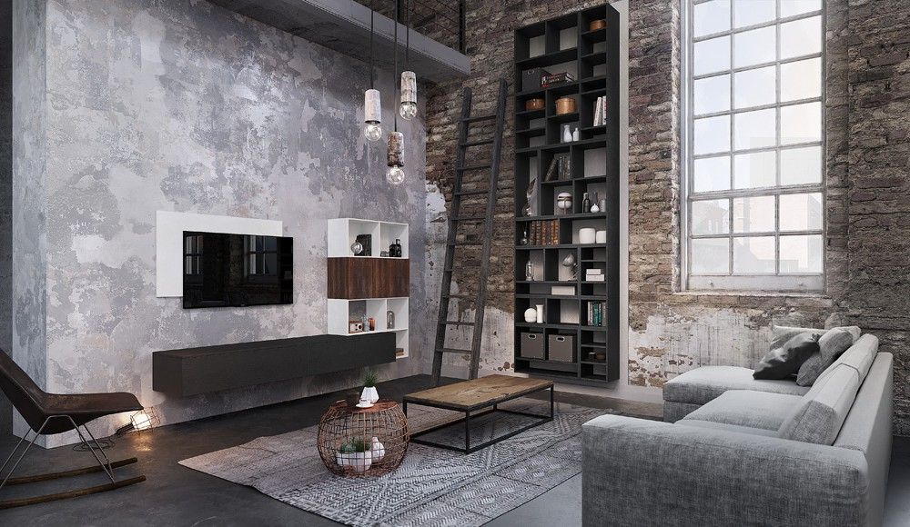 Captivant Meubles Salon Loft Harmonie Stratifie Idees