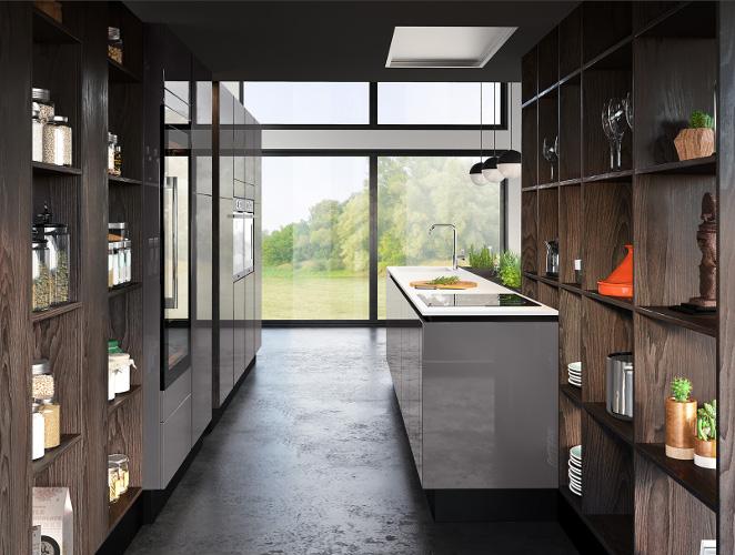 cuisine-design-laque-ilot-central-reflet