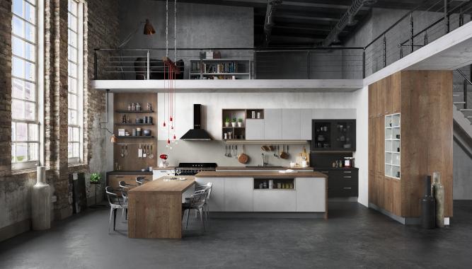 La cuisine esprit loft Harmonie en Une de L\'Officiel des Cuisinistes ...