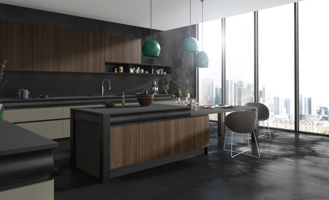 une cuisine design empreinte de sensualit mod le rendez vous. Black Bedroom Furniture Sets. Home Design Ideas