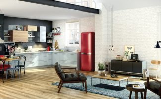 cuisine-equipee-contemporaine-vintage-cafe