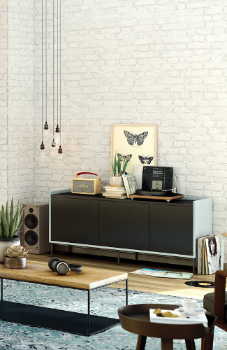 Meuble de salon buffet r tro vintage mod le caf for Meuble cameleon