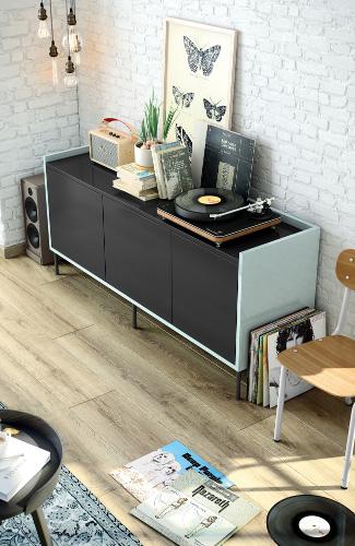 meuble-salon-noir-bleu-retro