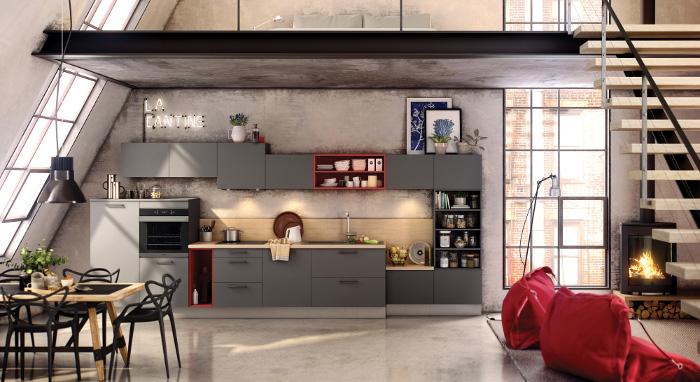 Cuisine style industriel Archi - Arthur Bonnet